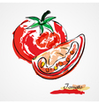 Tomato fruit vector
