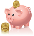 Piggy bank and coins vector