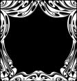 Black and white theatrical curtains vector