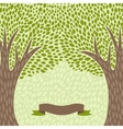 Abstract background with stylized trees in retro vector