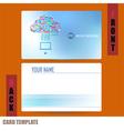 Modern template computer idea with social network vector