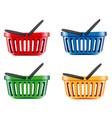 Coloured shopping basket vector