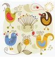 Cartoon cute birds vector