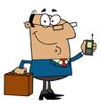 Hispanic businessman holding a briefcase vector