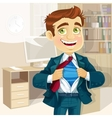 Super business man in office vector