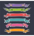 Cartoon ribbons set vector