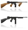 Gangster gun thompson 03 vector