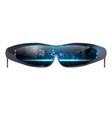 Cool sunglasses vector