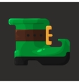 Boots of leprechaun for st patricks day icon vector
