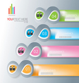 Paper note for abstract business infographic backg vector