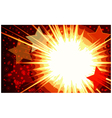 Explosion background vector