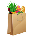 Shopping bag with foods vector