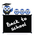 Blackboard back to school vector