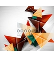 Geometric shape abstract triangle background vector