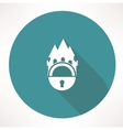 Castle and locking icon vector