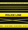 Police lines vector