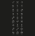 Set of silver icons vector