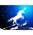 Christmas magic horse vector