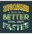 Physical education t-shirt design vector