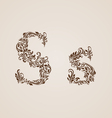 Decorated letter s vector