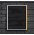 Black chalkboard with wooden frame vector