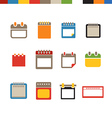 Different calendar web icons collection vector