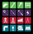 Construction icon set basic style vector