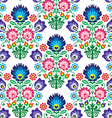 Seamless polish slavic folk art floral pattern - vector