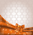 Cute brown backdrop with ribbon bow vector