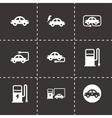 Black electric icon set vector