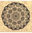 Henna inspired colourful mandala vector