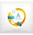 Circle web design bubble  infographic elements vector