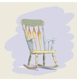 Vintage rocking chair vector