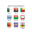 African countries flags set 1 vector