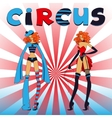 Two thin circus girls vector