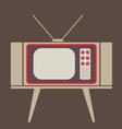 Flat design vintage tv vector