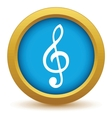 Gold music icon vector