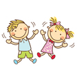 Cute cartoon children vector