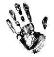 Black print of hand vector