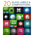 Mega set of glass labels and compositions vector
