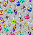 Halloween cute hand drawn pattern with different vector