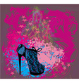 High heels background with place for you text vector