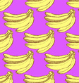 Sketch tasty bananas in vintage style vector