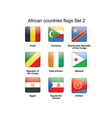 African countries flags set 2 vector