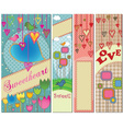 Four colorful love themed banners in standard vector