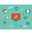 Online marketing infographic vector