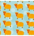 Seamless pattern with funny cute sheep animal on a vector