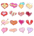 Happy valentines hearts set vector
