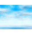 Sky over water vector