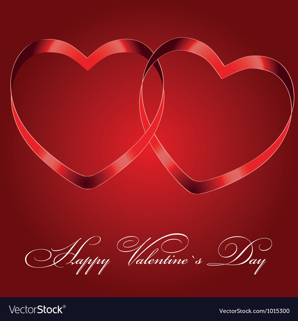 Background with two hearts vector | Price: 1 Credit (USD $1)